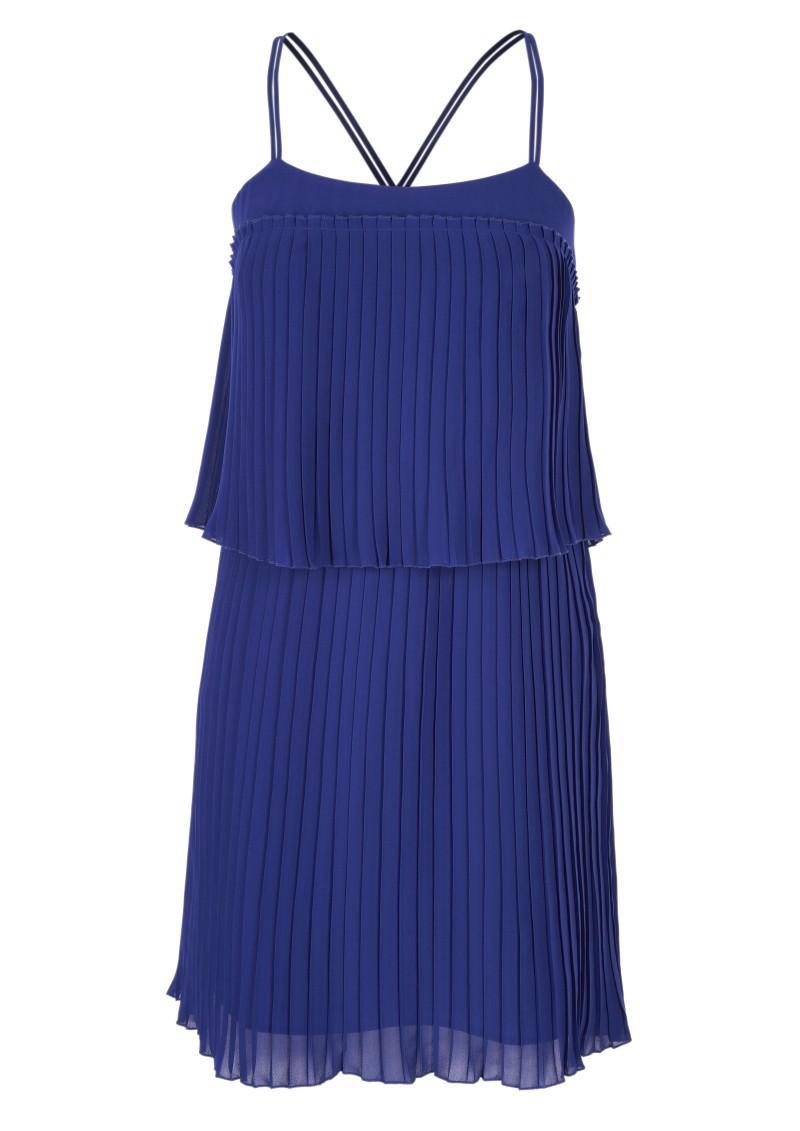 niebieska sukienka Next - moda zimowa
