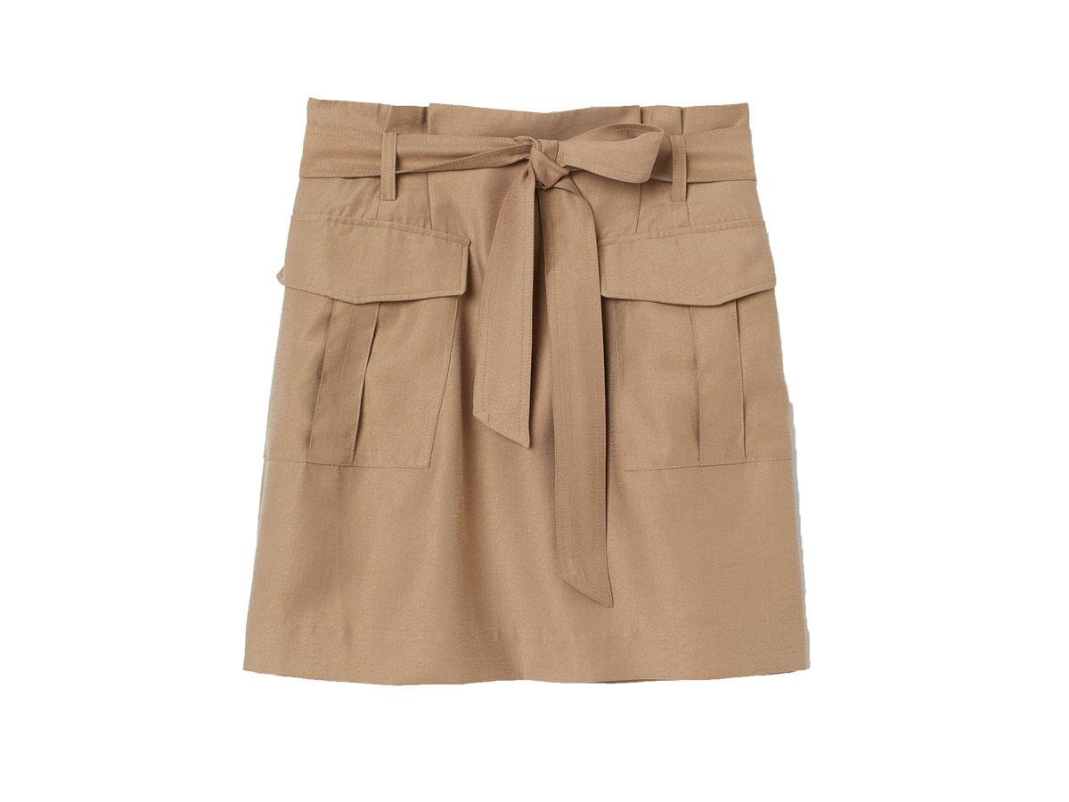 Beżowa spódnica paper bag H&M