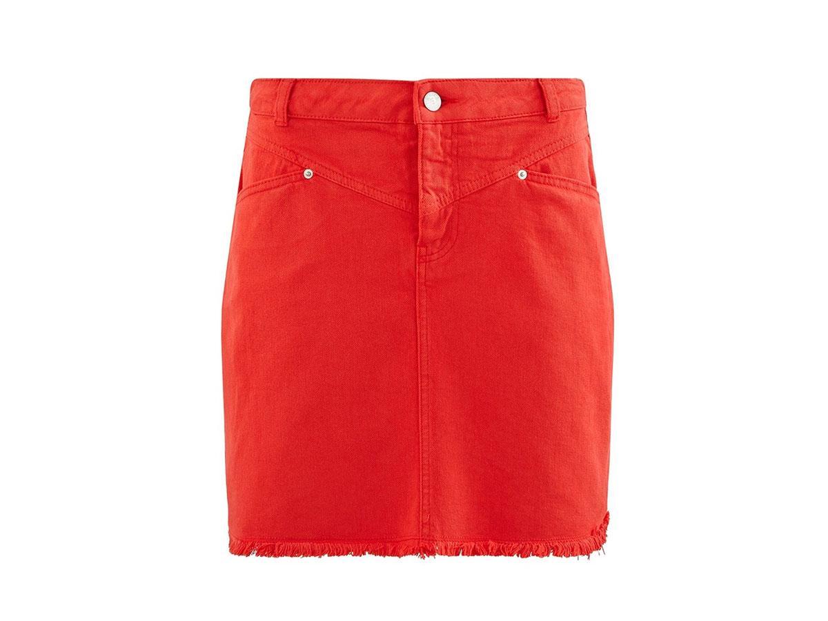 Czerwona spódnica mini Promod