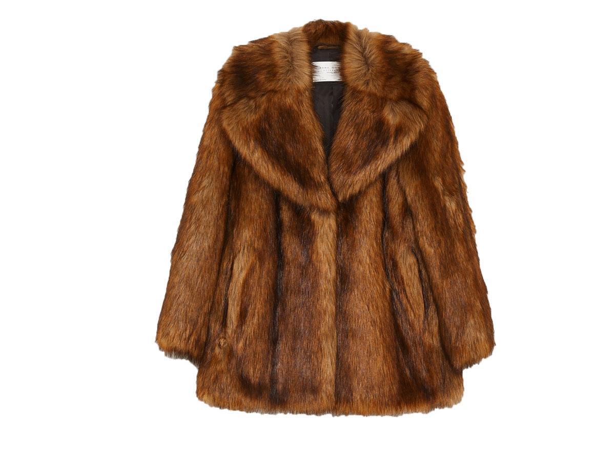 Płaszcz ze sztucznego futerka, Zara, cena ok. 449,00 zł