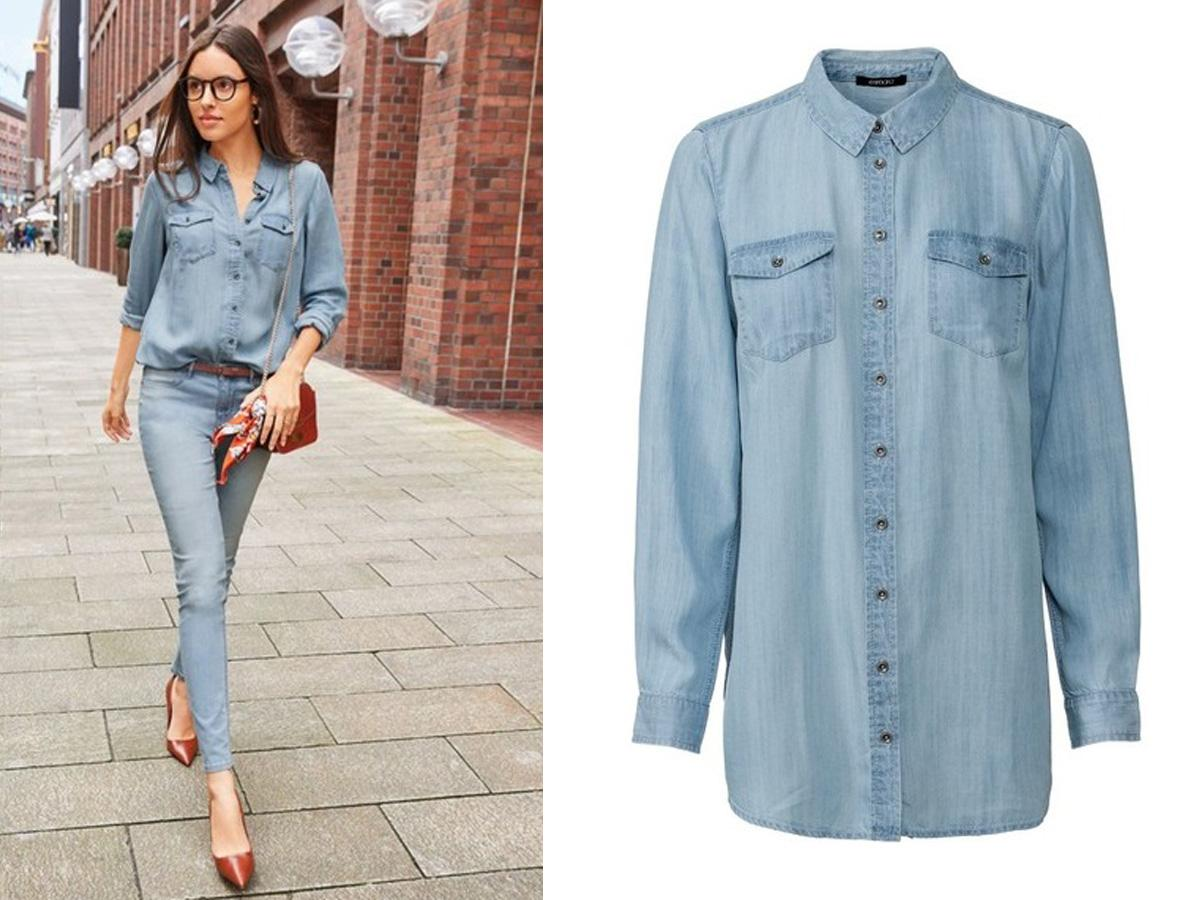 niebieska koszula jeansowa Lidl