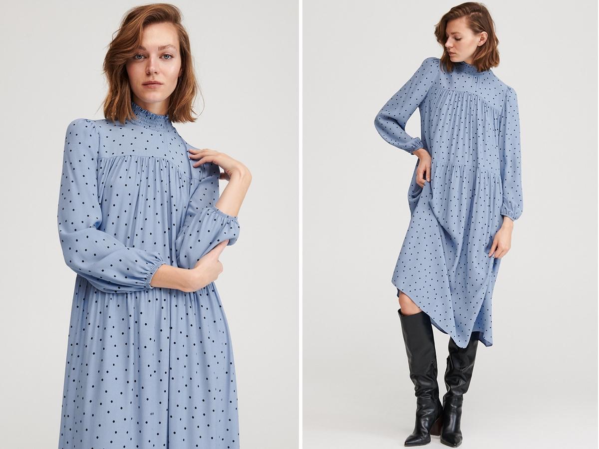 sukienka w grochy z Reserved