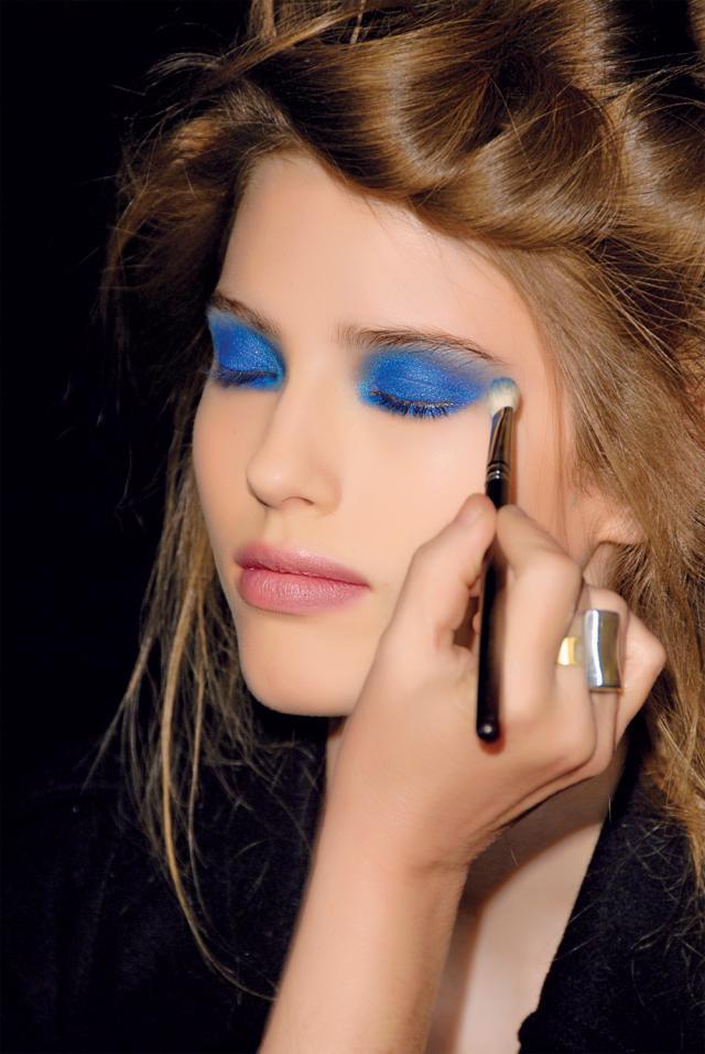 Niebieski Makijaż Oka Twarz I Makijaż Polkipl