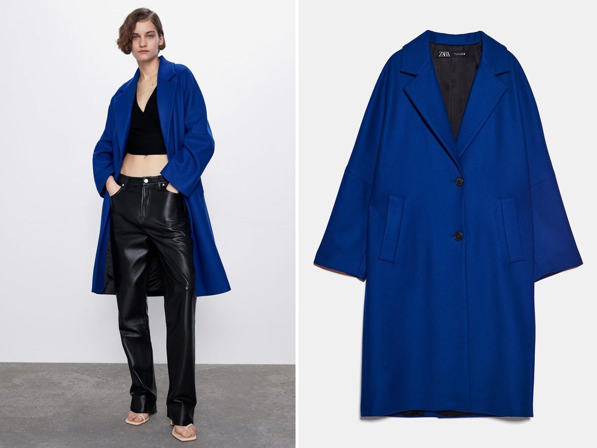 niebieski płaszcz Zara