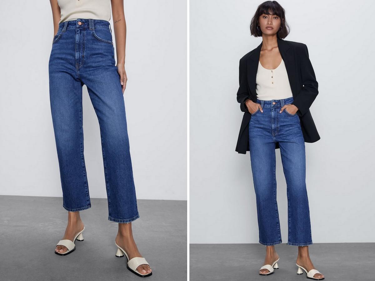 jeansy flare z Zary
