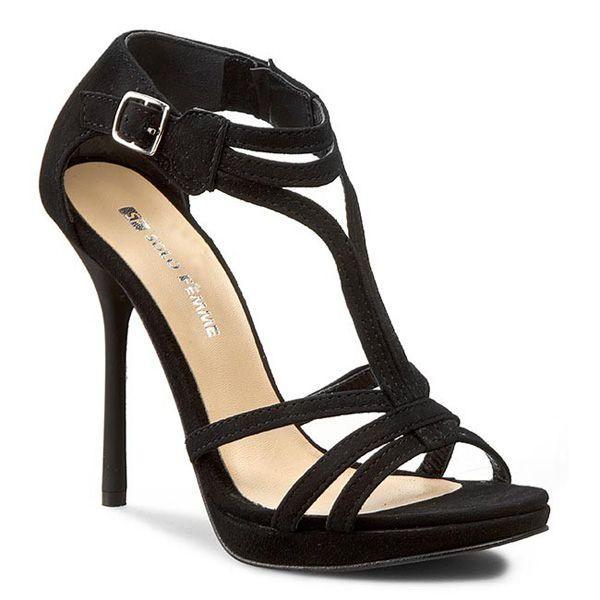Sandałki na szpilce Solo Femme, cena