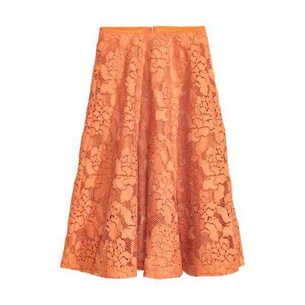 Pomarańczowa spódnica H&M, cena