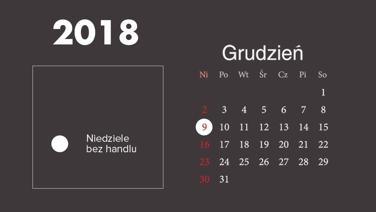 Niedziele bez handlu grudzień 2018