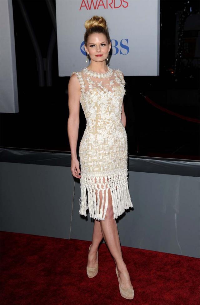 nietrafiona fryzura Jennifer Morrison, wpadki gwiazd, Jennifer Morrison na Peoples Choice Awards 2012