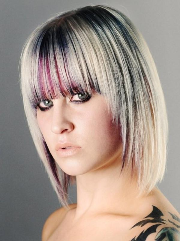 Nietypowe kolory włosów - fryzury