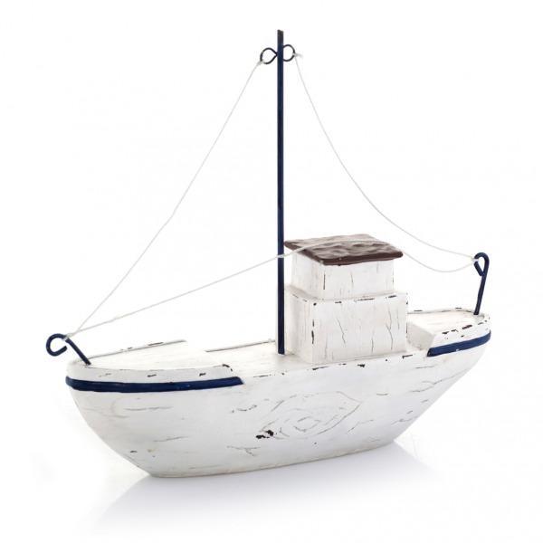 Piękna figurka biały statek -trendy wnetrzarskie 2013