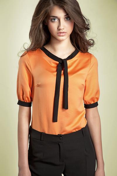 pomarańczowa bluzka Nife - wiosna/lato 2012