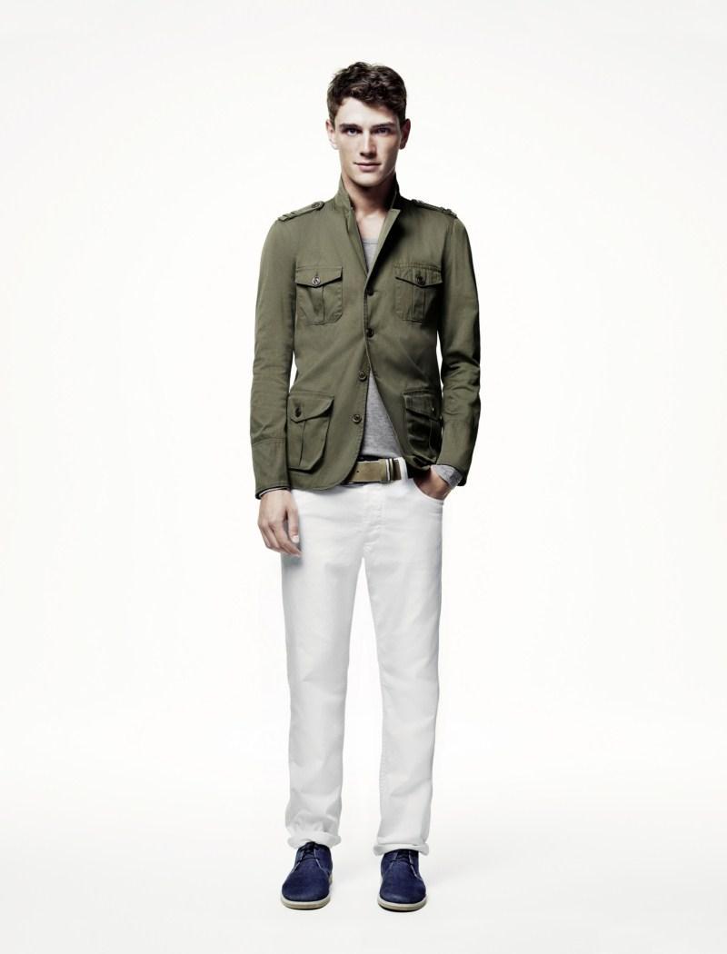 khaki marynarka H&M - wiosna/lato 2011