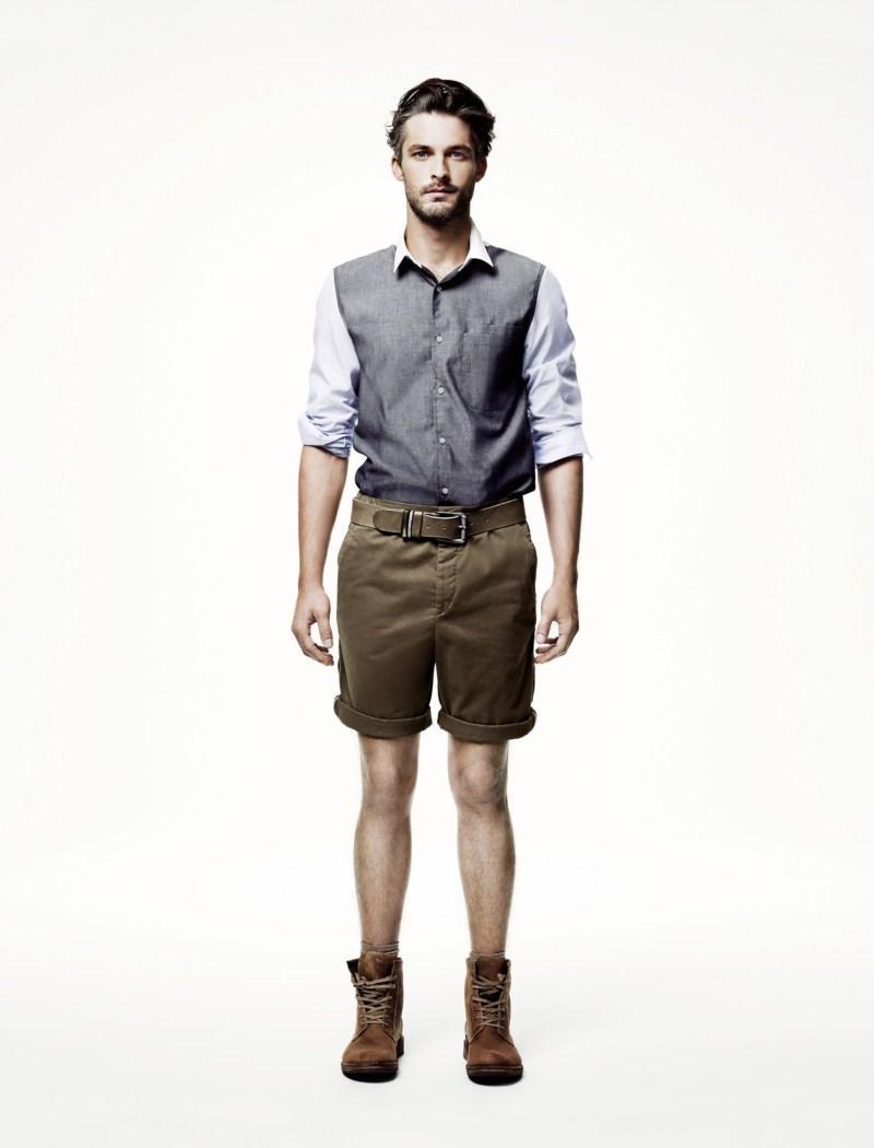 brązowe szorty H&M - wiosna/lato 2011
