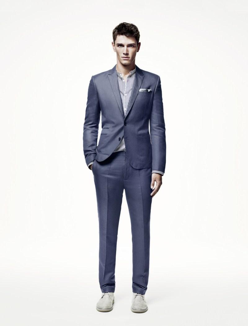 niebieski garnitur H&M - wiosna/lato 2011