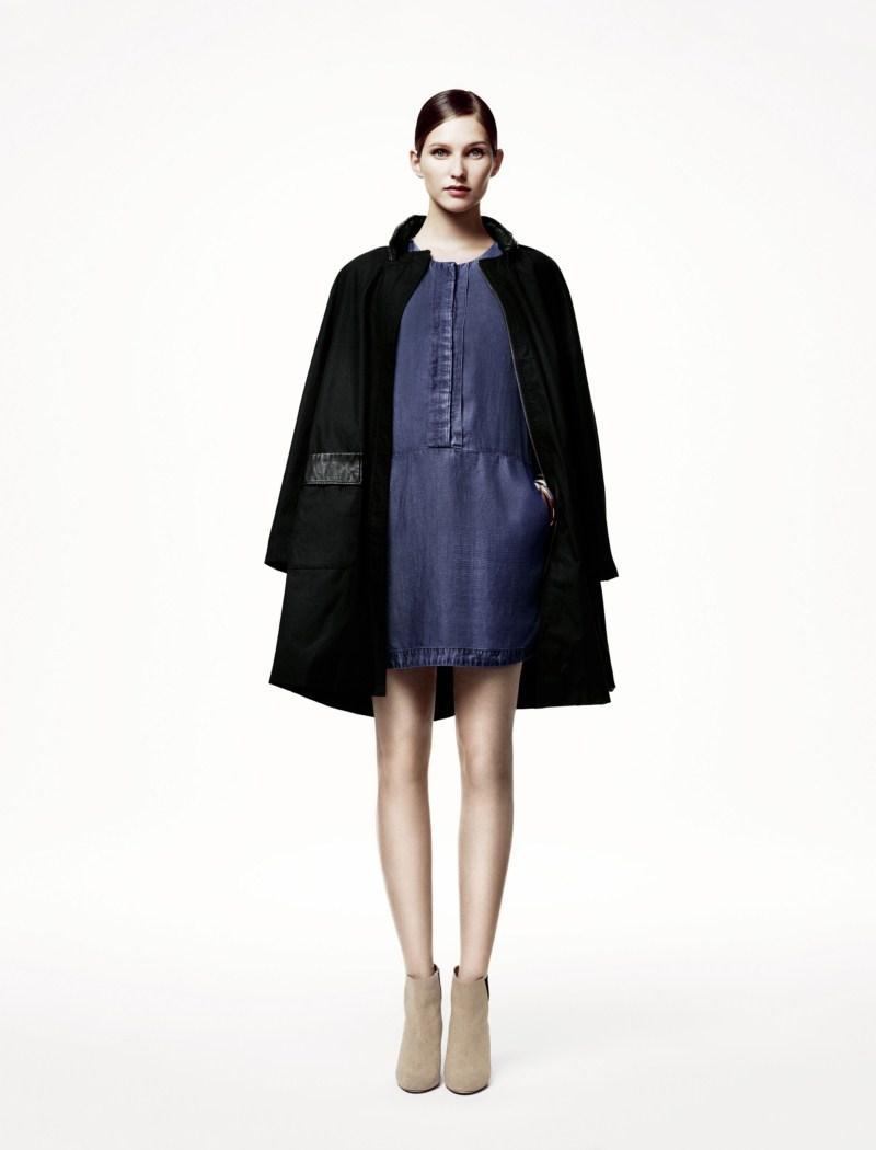 czarny płaszczyk H&M - wiosna/lato 2011