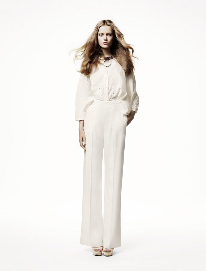 białe spodnie H&M - wiosna/lato 2011
