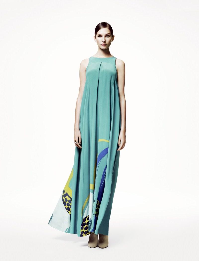 błękitna sukienka H&M - wiosna/lato 2011