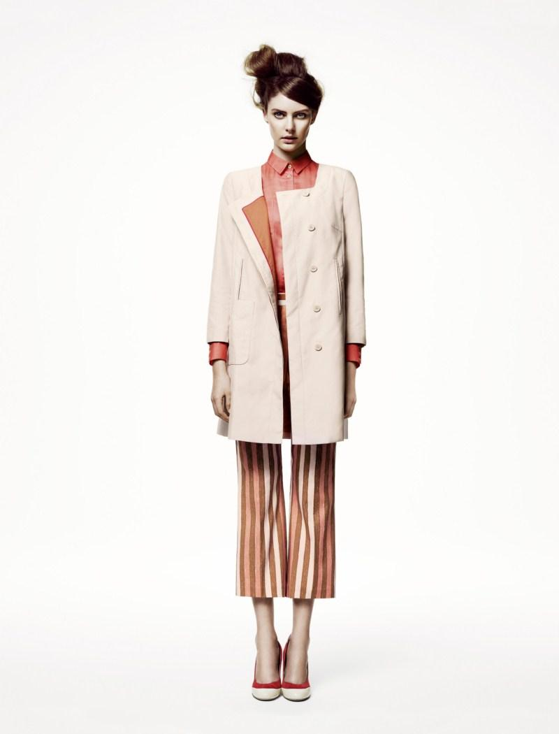 ecru płaszczyk H&M - wiosna/lato 2011