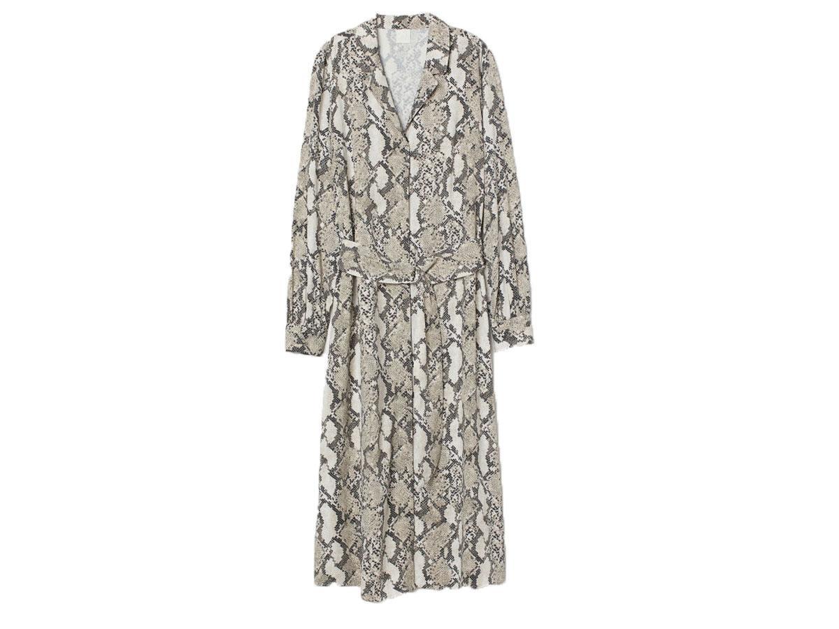 Sukienka ze zwierzęcym nadrukiem, H&M, cena ok. 129,99 zł