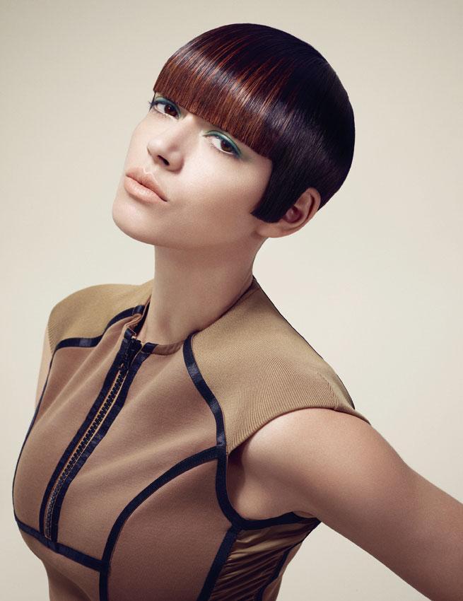Nowoczesne geometryczne fryzury