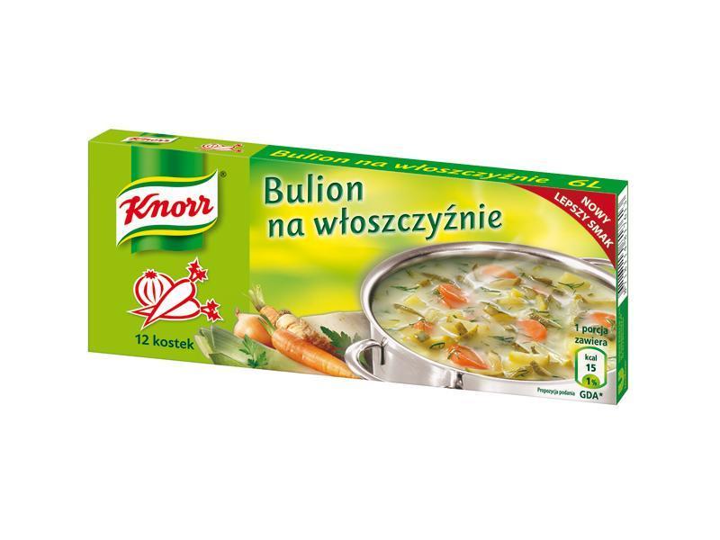 Bulion na włoszczyźnie, Knorr, bulion, kostka rosołowa