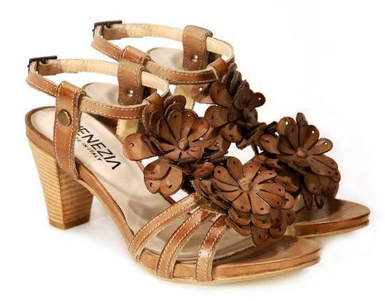 brązowe sandały Venezia - lato