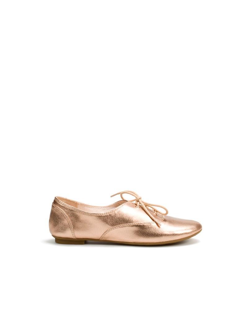 złote baleriny ZARA - trendy wiosna-lato