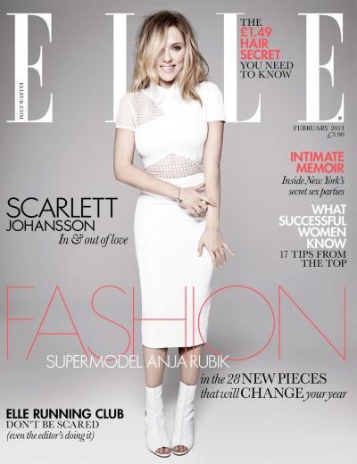 Scarlett Johannson na okładce styczniowego ELLE UK