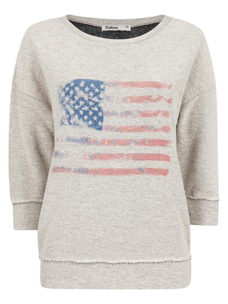 sportowa z rękawem 3/4 bluza Cubus w kolorze szarym - kolekcja ubrań sportowych