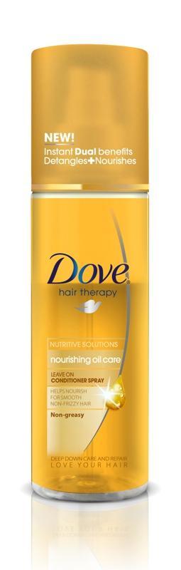 Odżywka w sprayu Dove Hair Therapy Nourishing Oil Care, Dove, cena ok. 16 zł/200 ml