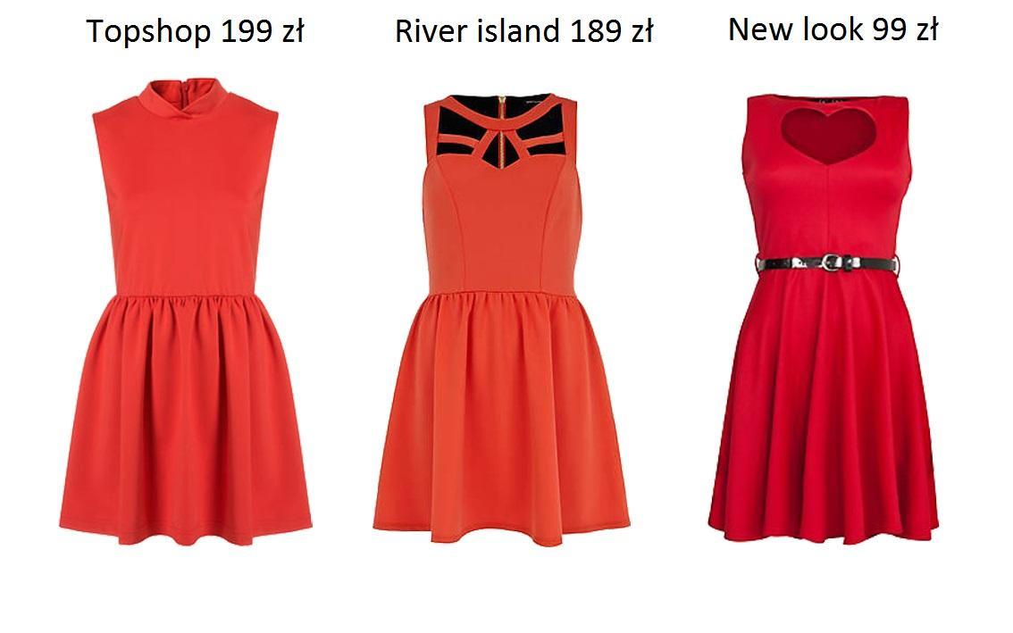 Czerwone sukienki - przegląd
