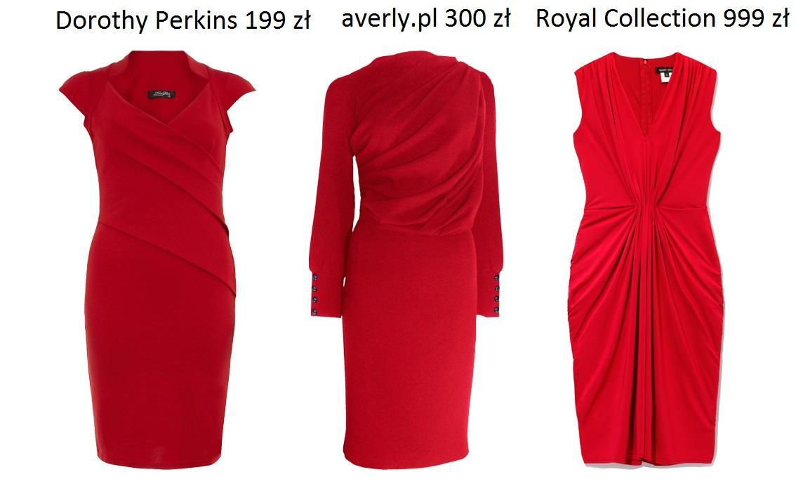 Ogniste czerwone sukienki - przegląd