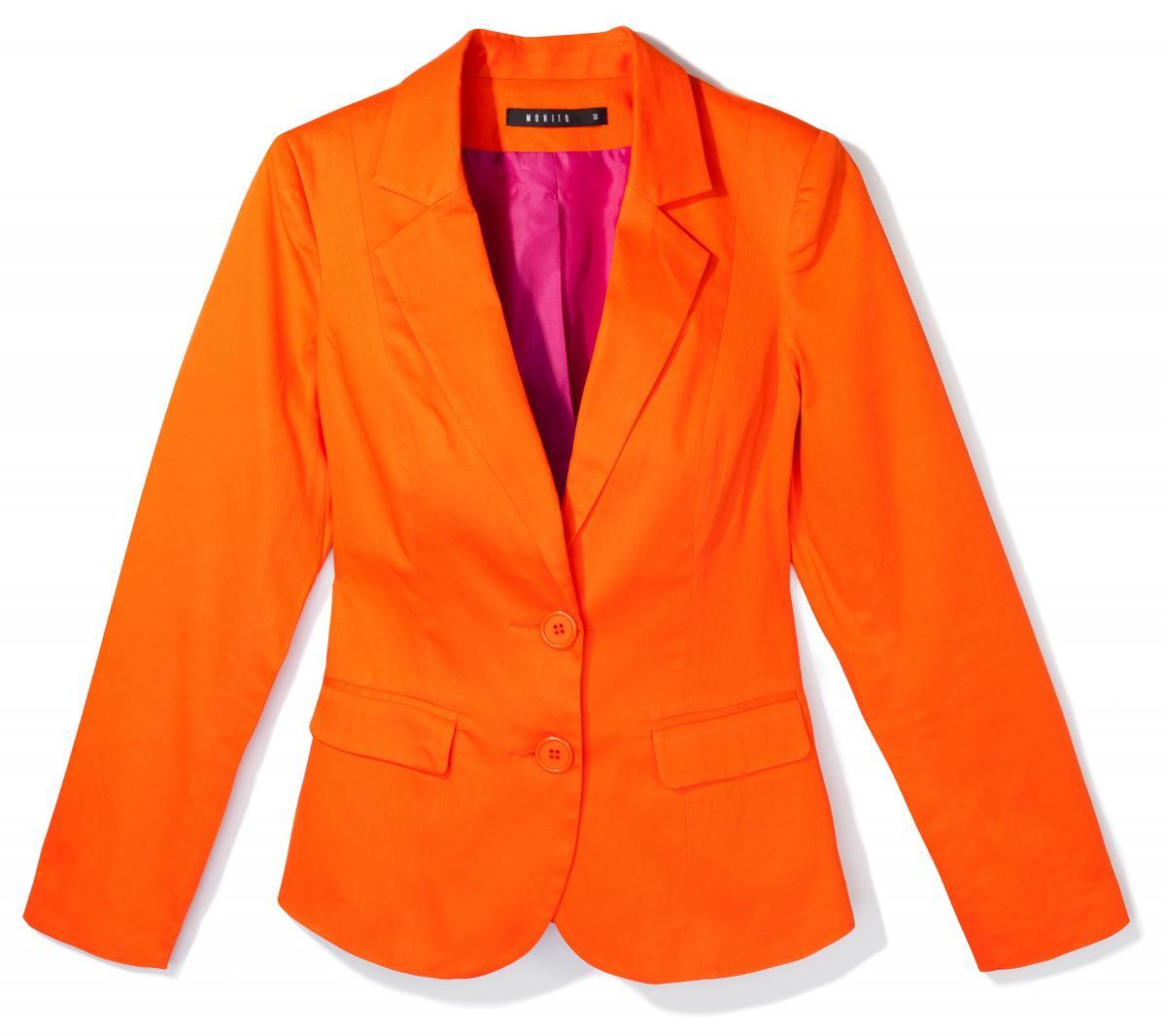 pomarańczowa marynarka Mohito - trendy wiosenne