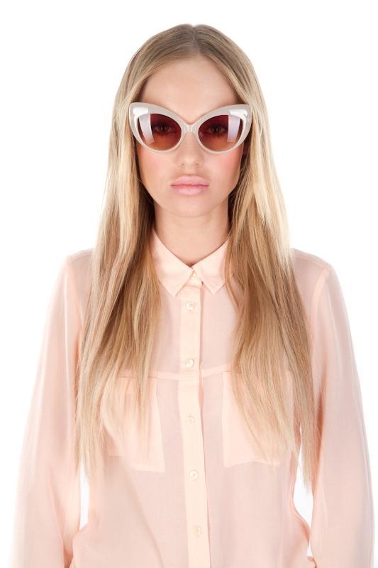 Okulary przeciwsłoneczne - koci kształt i unisex