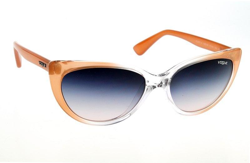 pomarańczowe okulary przeciwsłoneczne Vogue kocie - z kolekcji wiosna-lato 2012