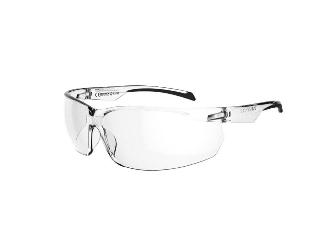 Przezroczyste okulary rowerowe Decathlon