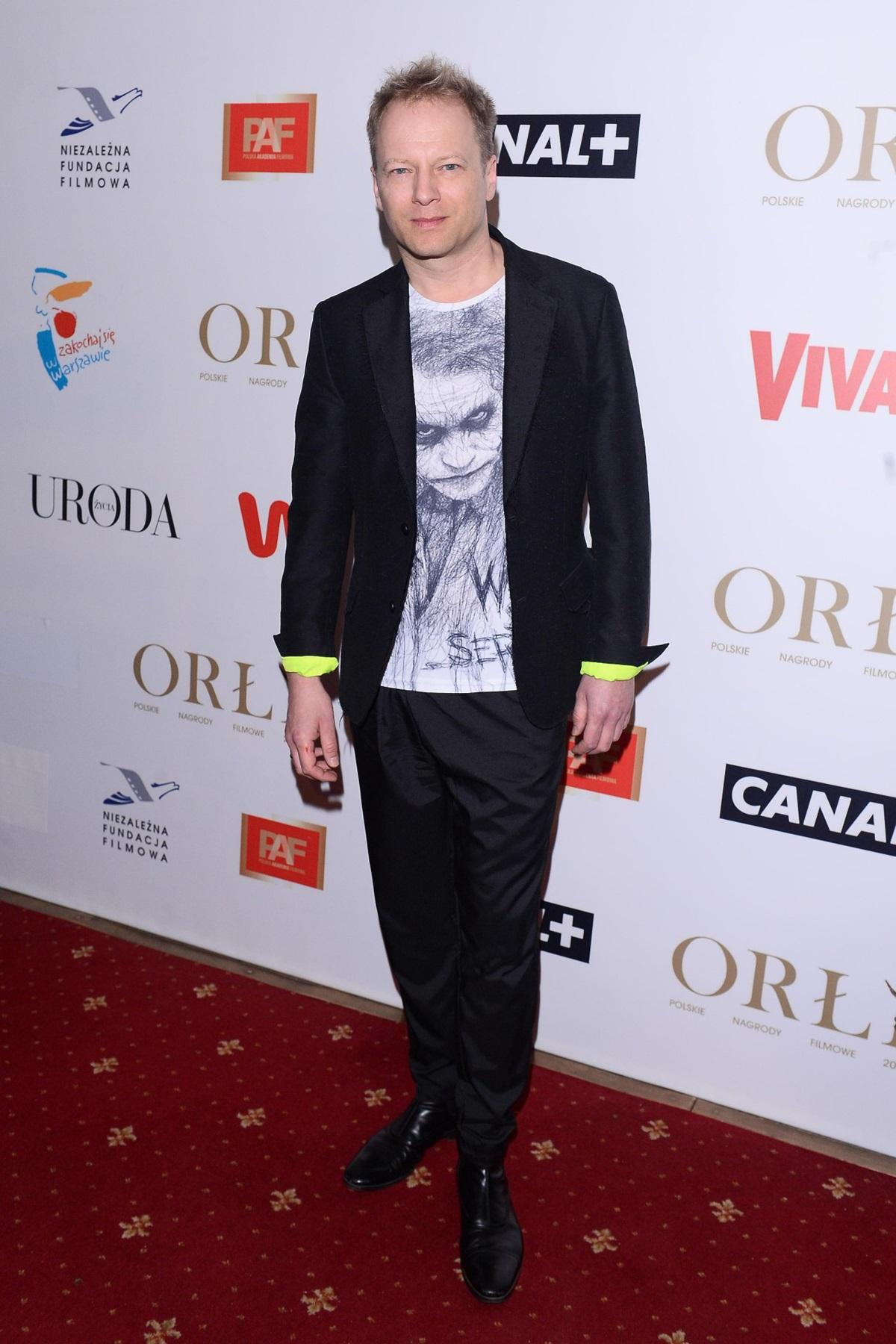 Maciej Stuhr na gali Orły 2019