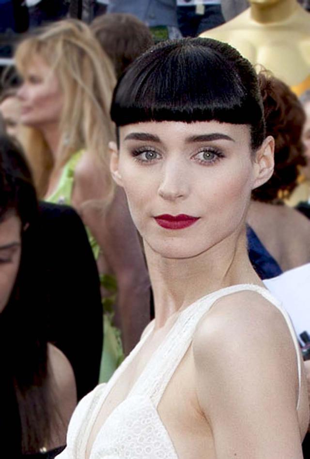 Rooney Mara, Oscary 2012, makijaże i fryzury gwiazd