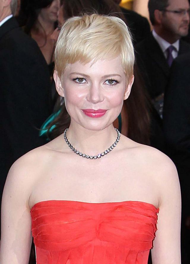 Michelle Williams, Oscary 2012, makijaże i fryzury gwiazd