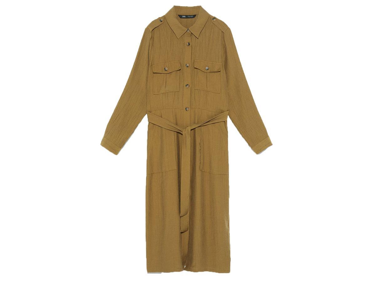 Sukienka w stylu utility, Zara, cena ok. 199,00 zł