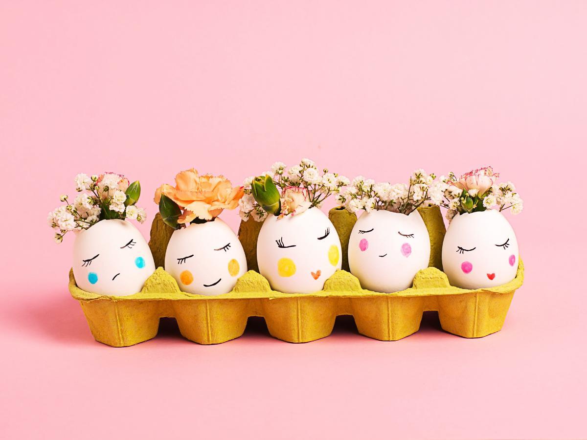 Ozdoba wielkanocna z jajek