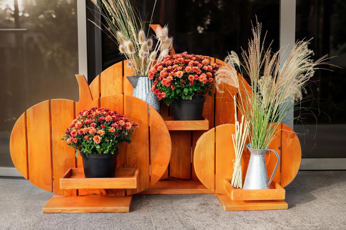 Ozdoby na Halloween do ogrodu - ścianki doniczkowe