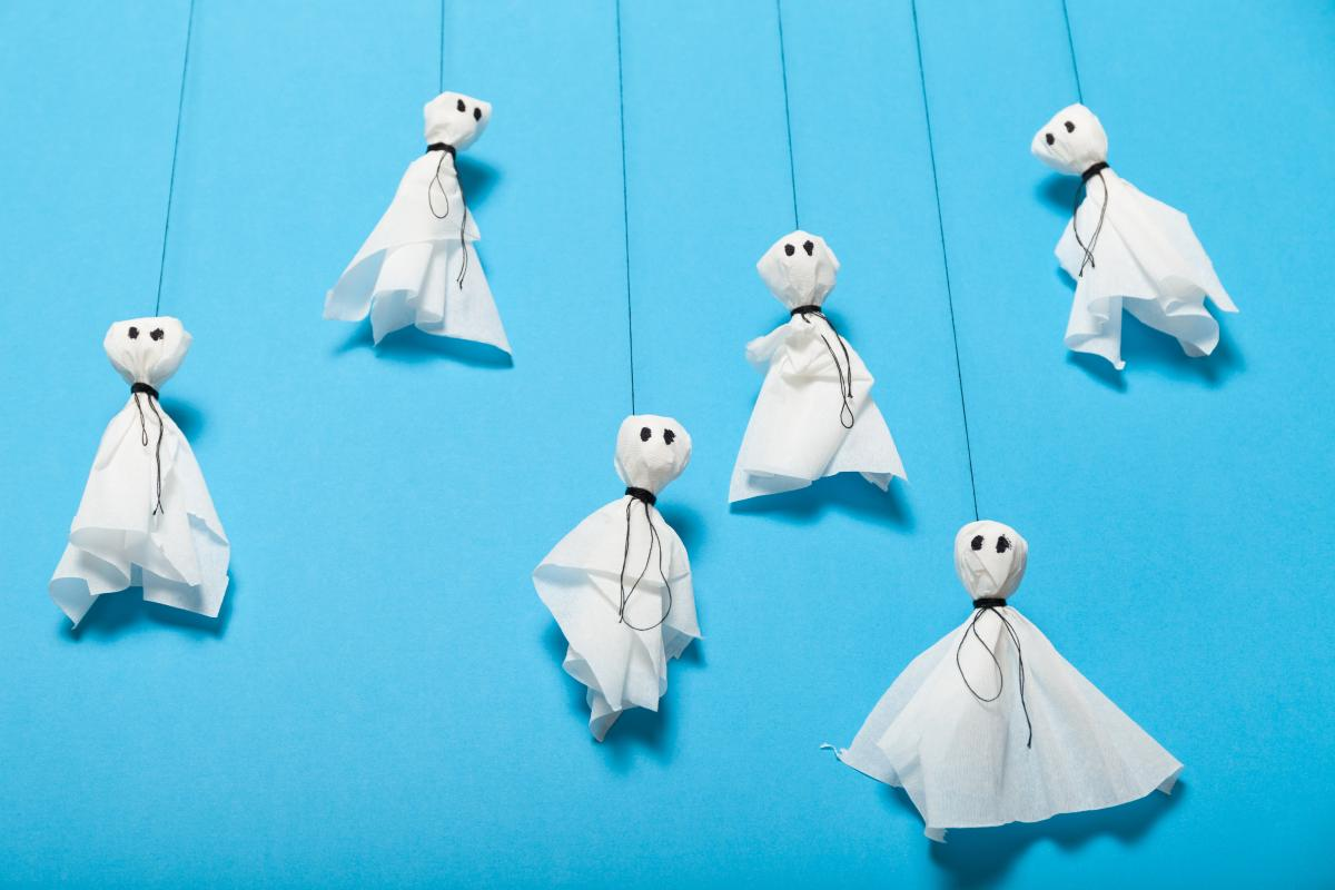 Ozdoby duchy na Halloween