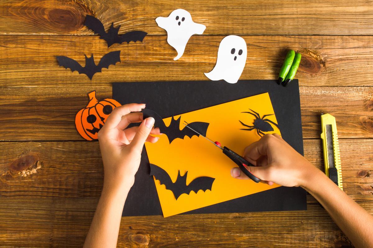 Nietoperze z papieru na Halloween