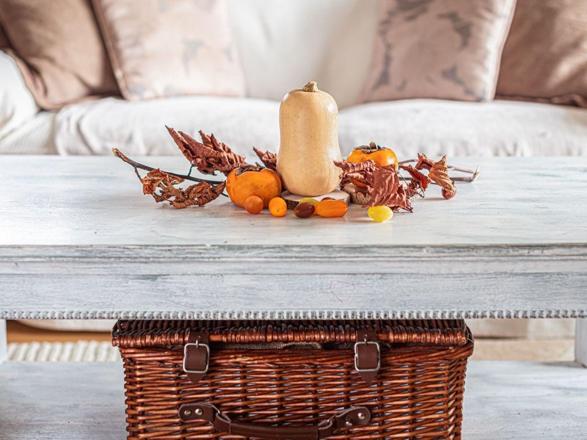 dekoracje z dyni na stół