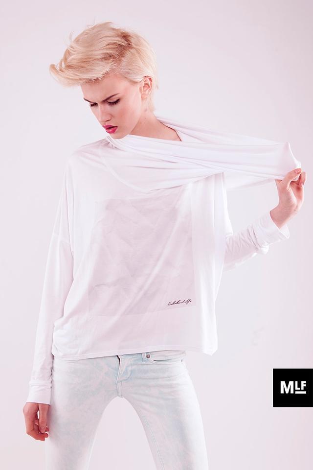 luźna bluzeczka Mulholland w kolorze białym - lato 2013
