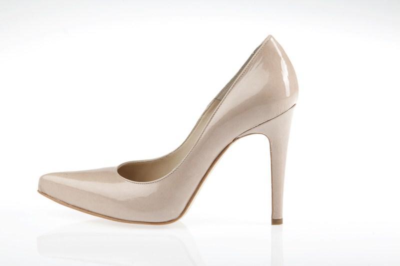 ecru pantofle Prima Moda na wysokim obcasie - wiosna 2011