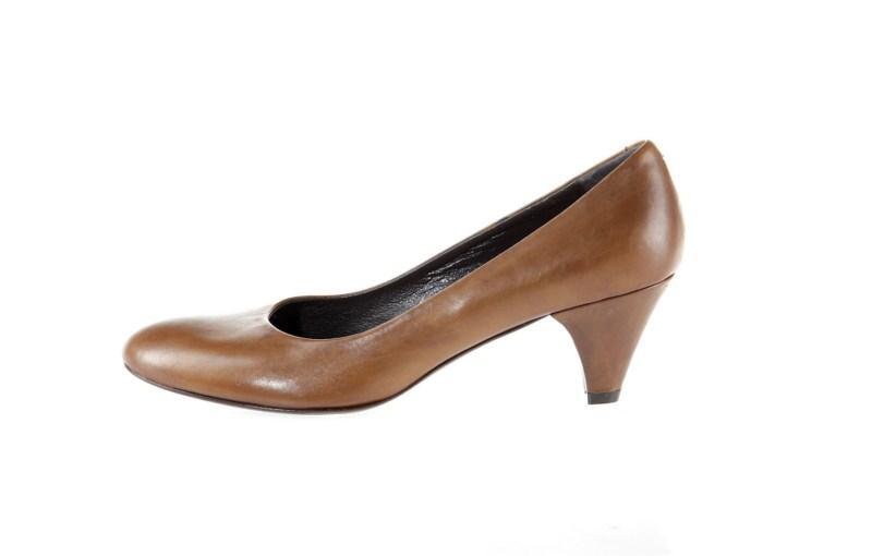 brązowe pantofle Prima Moda - wiosna 2011