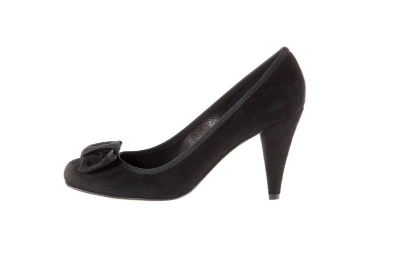 czarne pantofle Prima Moda z zamszu - wiosna 2011